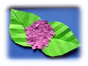 クリスマス 折り紙 折り紙 あじさい 作り方 : katch.ne.jp